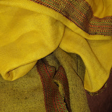 Load image into Gallery viewer, Handwoven Silk - Eri Spun Stole _ Yellow