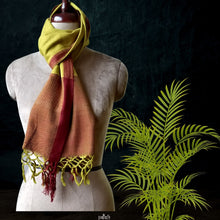 Load image into Gallery viewer, Handwoven Silk Eri Spun Stoles _Yellow