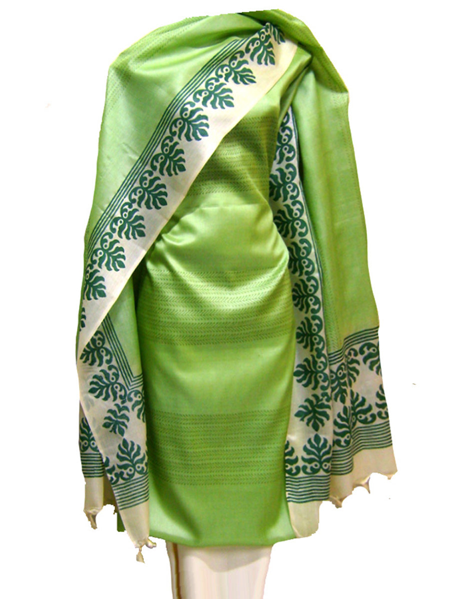 Hand Block Printed Tussar Silk Ensemble BBETU11