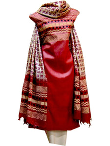 Hand Block Printed Tussar Silk Ensemble BBETU32
