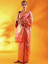 Load image into Gallery viewer, Nude Pink Pure Kataan Silk Saree with Meenakari Jaal