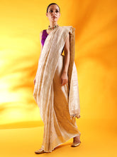 Load image into Gallery viewer, Beige Tussar Georgette Silk Saree