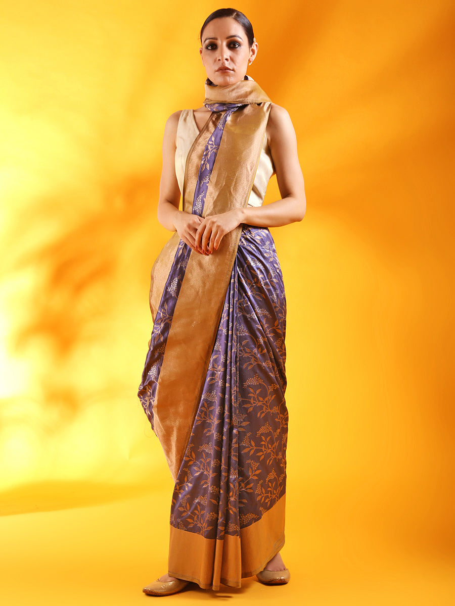 Patola Banarasi Saree in Teal Blue Silk Saree