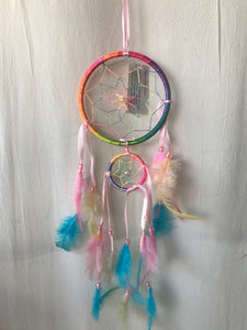 Small Multi Coloured Multi Dream Catcher.