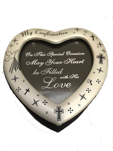 My Confirmation Love Heart Momento keepsake box and frame