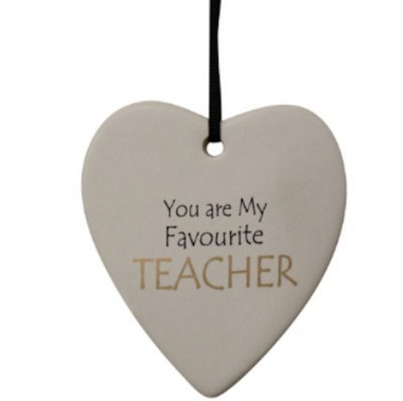 Ceramic Hanging Heart - You are my Favourite Teacher