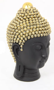 Black and Gold Rulai Buddha Head 22cm