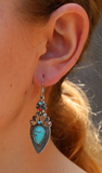 Turquoise Nickel Free Drop Earrings