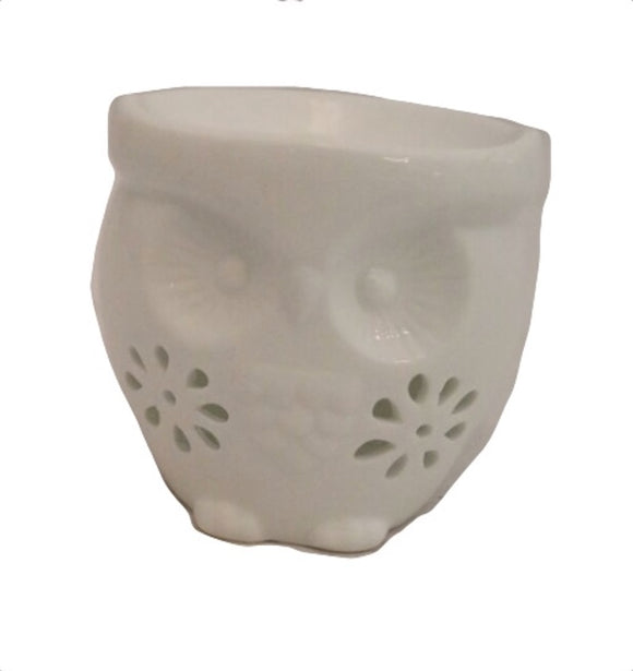 White Owl Design Ceramic Oil Wax Melt Burner