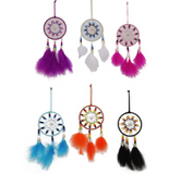 Beautiful Coloured /beaded Small Dream Catcher - 6 to pick from!
