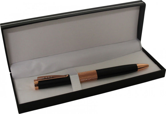 Matte Black and Copper Pen in Gift Box