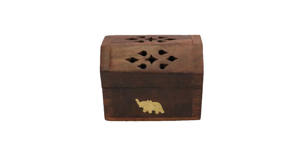 Small Wooden Box 8 cm Incense Holder