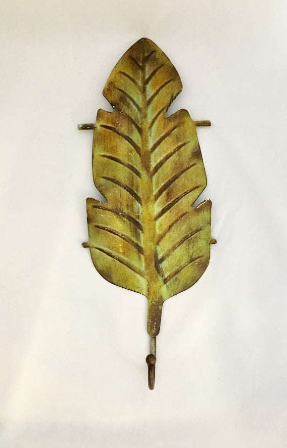 Large Leaf Design Rustic French Country Decor Wall Hook