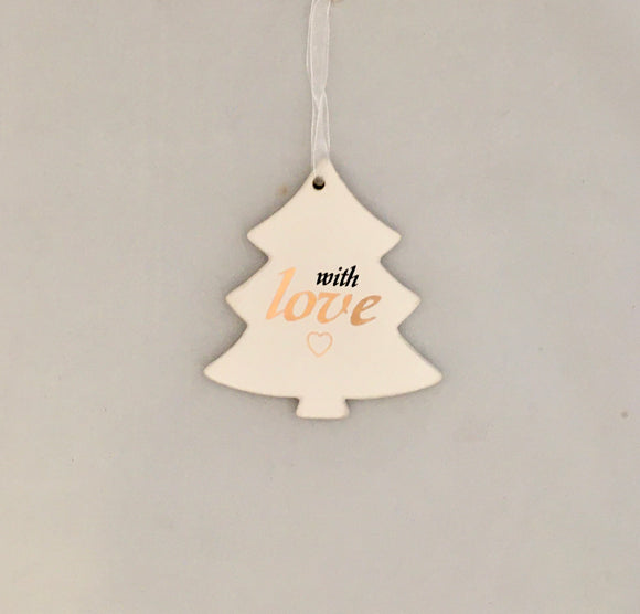 Ceramic Hang Christmas Tree - with Love