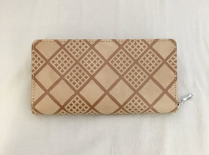 Sand Checker Pattern PU Leather Wallet