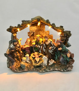 New Large Nativity Scene With Lights Christian Holidays Religion