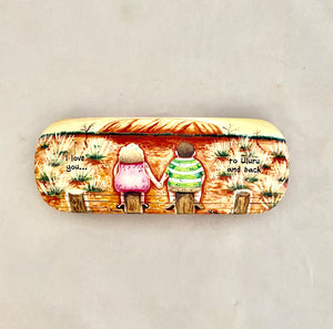 Glasses Case 'Love To Uluru' Sue Janson Australia Design