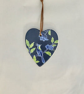 Ceramic Hanging Heart - 'Best Wishes' Orient