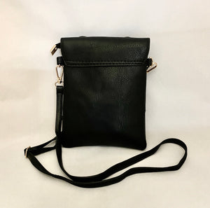 Rabbit Bow Black/Brown Clutch PU leather Shoulder Bag