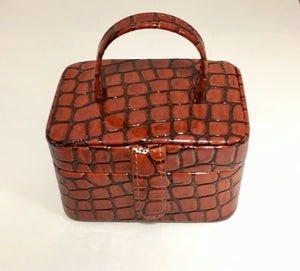Snake Skin Look Travel Jewellery Box