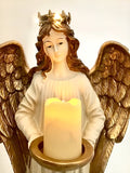 Large Standing Angle With Candle Light Golden Wings