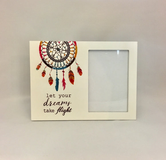 Let your dreams take flight dream catcher photo frame