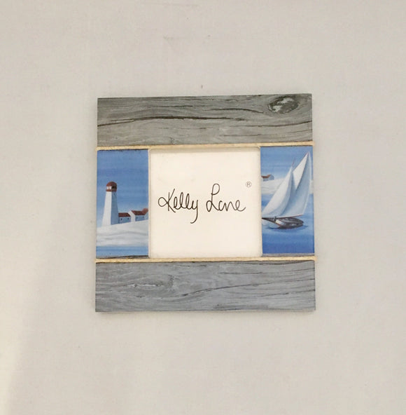 Kelly Lane Design Small Light House And Boat Photo Frame 3x3