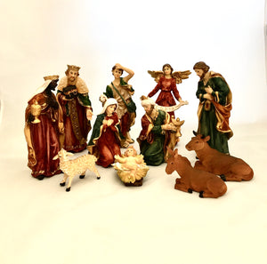 New Large Nativity Scene 11pcs Set Statue Christmas Religious Holiday
