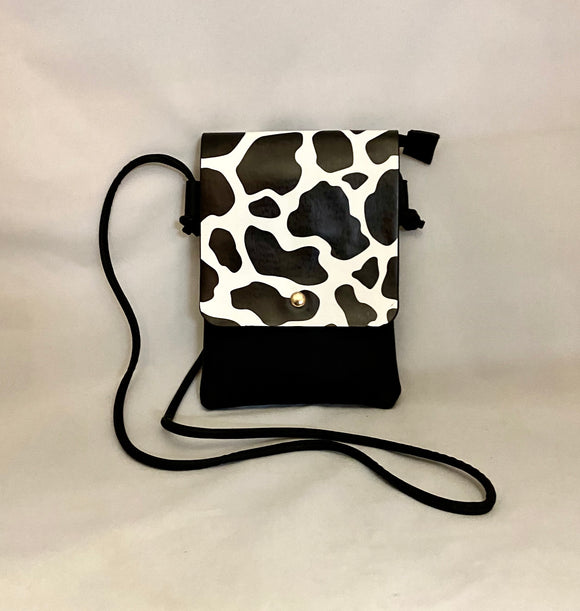 Cow Pattern Clutch PU Leather Shoulder Bag