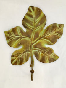 Oak Leaf Design Rustic French Country Wall Hook