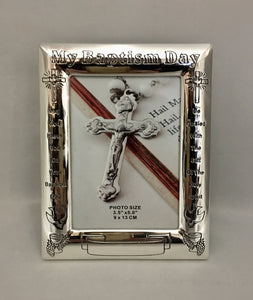 My Baptism Day Pewter Photo Frame
