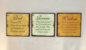 Inspiration wall signs Wisdom * Rest * Renew Pick the one for you!