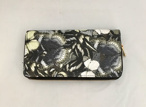 Black Butterfly Design PU Leather Wallet