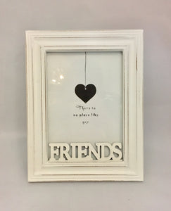 Friends white wooden frame 5x7""