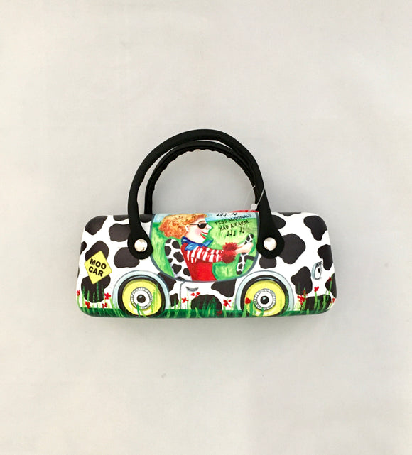 Glasses Case With Handles - 'Moo Car' Sue Janson Australia Design