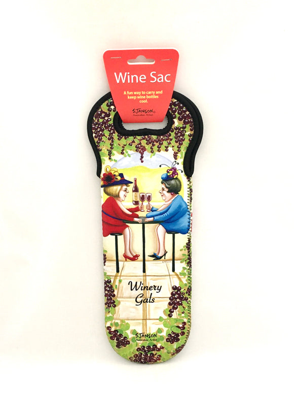 Wine Sac 'Winery Gals' Sue Janson Australia Design