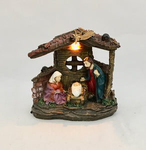 Nativity Scene With Light