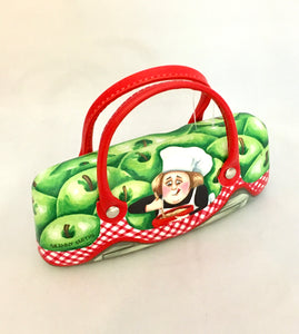 Glasses Case With Handles - 'Granny Smith' Sue Janson Australia Design