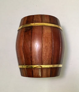 Wine Barrel Sheesham Wooden Money Box