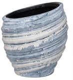 Vase/Planter OysterBlue Stoneware Ceramic Modern Design Large/Medium