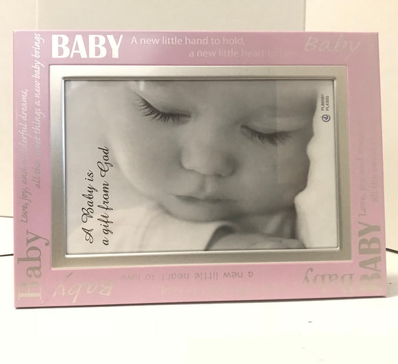 Baby Girl Pink Photo Frame