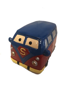 Red and Blue Van Money Box