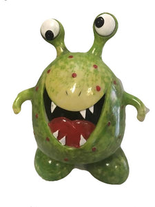 Green Happy Monster Money Box