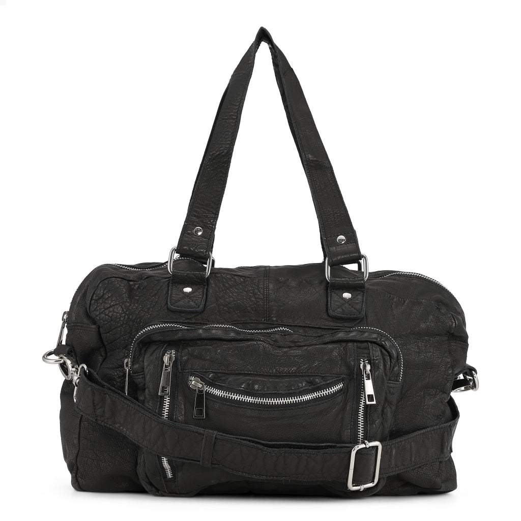 Núnoo Mille washed black Shoulder bags Black