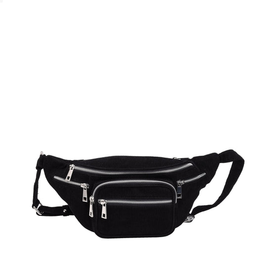 Núnoo Mini Yoo corduroy Belt bags Black