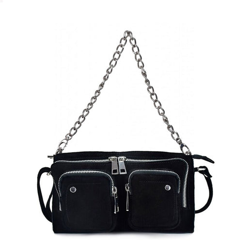 Núnoo Stine chain suede black Crossbody Black