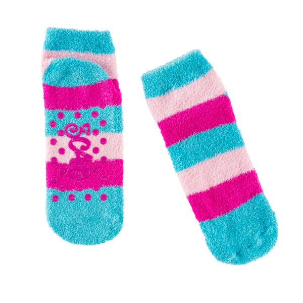 Girls Faux Fur Sleep Mask & Socks Set – 3 Designs – Caticorn, Llama and Panda - Bizzy Lizzy