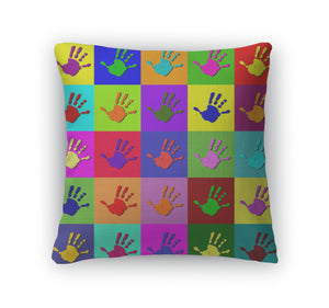 Throw Pillow, Warhol Hands - Bizzy Lizzy
