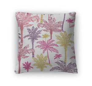 Throw Pillow, Palm Trees Pattern - Bizzy Lizzy