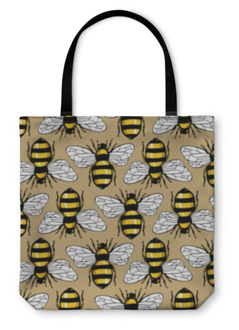 Tote Bag, Bee Honey Pattern - Bizzy Lizzy